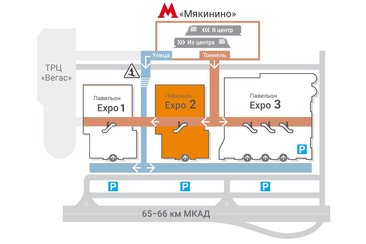 Схема проезда в Крокус Экспо